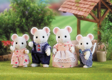 SYLVANIAN 4121 White Mouse Family