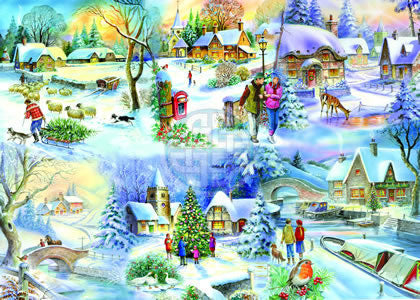 SNOWY AFTERNOON Big 500pc jigsaw