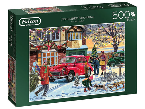 FALCON December Shopping 500pc CHRISTMAS  jigsaw