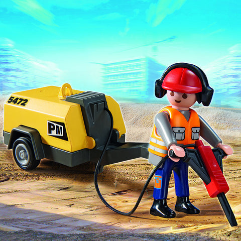 PLAYMOBIL 5472 Construction Worker with Jackhammer