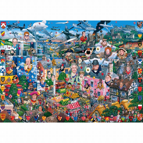 Gibson I LOVE GREAT BRITAIN 1000pc jigsaw