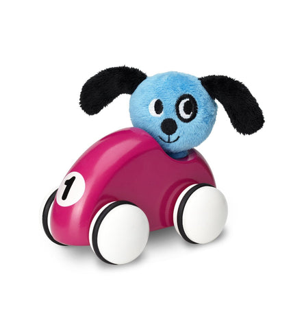 MICKI wooden pull-back car PUPPY