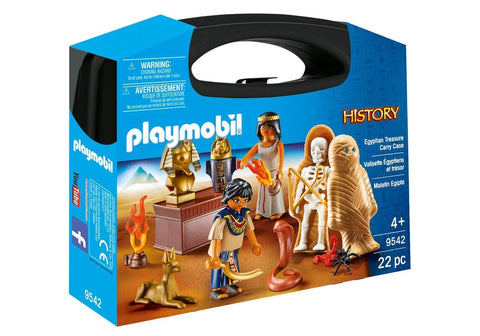 PLAYMOBIL 9542 HISTORY Egyptian Treasure CARRY CASE set