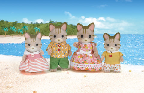 SYLVANIAN 5180 Striped Cat family set