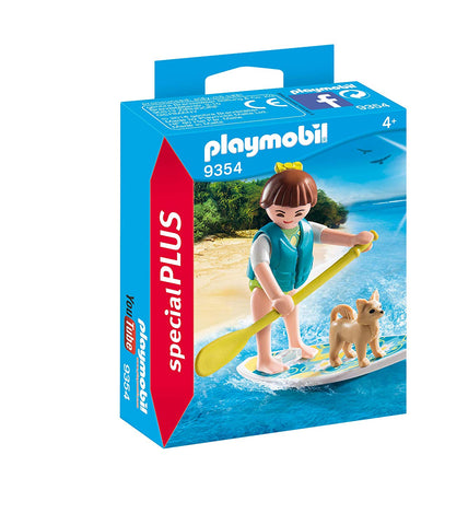 PLAYMOBIL 9354 SPECIAL PLUS Paddleboarder with dog