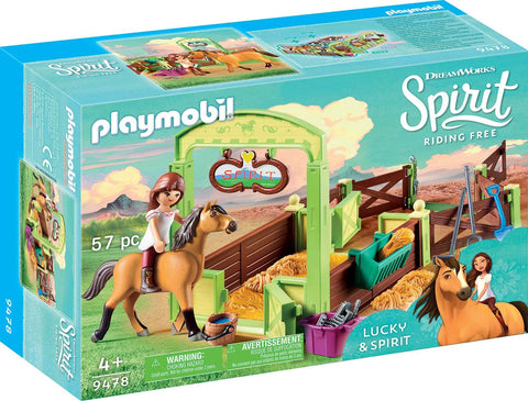 PLAYMOBIL 9478 SPIRIT RIDING FREE Horse Stable with Lucky & Spirit