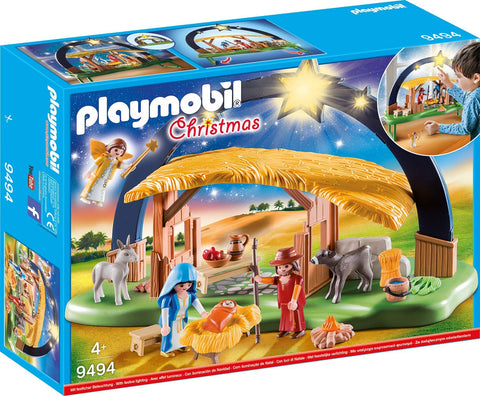 PLAYMOBIL 9494 CHRISTMAS Illuminating Nativity Manger NATIVITY SET