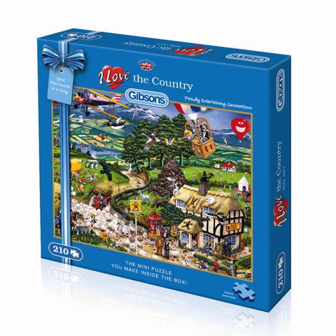 Gibson I LOVE THE COUNTRY 210pc mini jigsaw