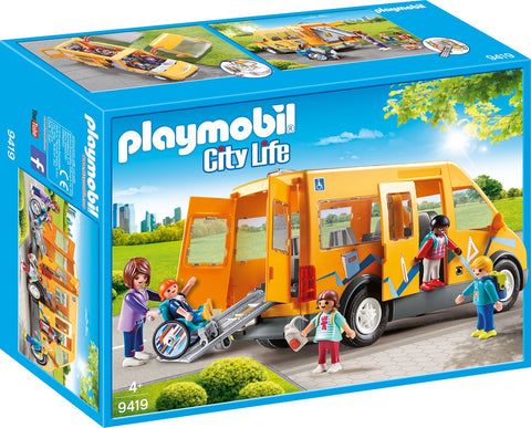 PLAYMOBIL 9419 CITY LIFE School Van with Wheelchair Access