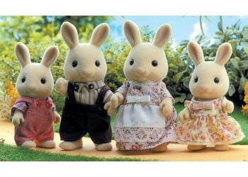 SYLVANIAN 4108 Milk Rabbit Family