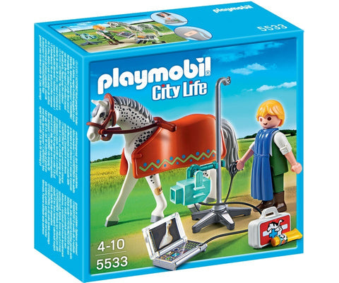 PLAYMOBIL 5533 Horse with X-Ray Technician