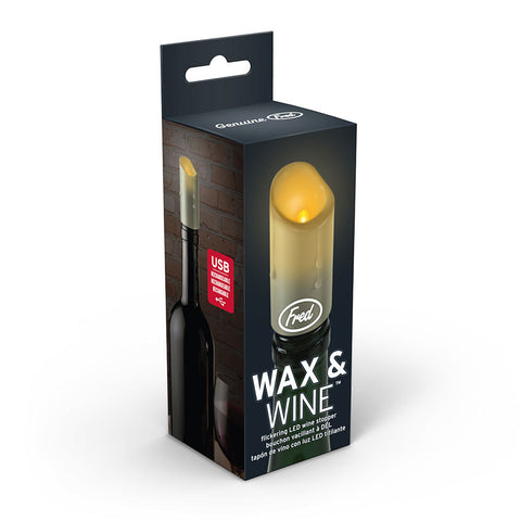 FRED Wax & Wine LED candle wine stopper