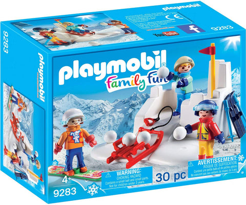 PLAYMOBIL 9283 FAMILY FUN Snowball Fight WINTER FUN