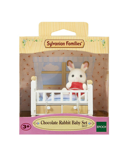 SYLVANIAN 5017 Chocolate Rabbit Baby Set