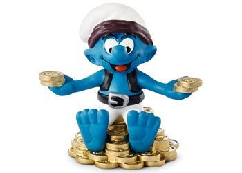 SCHLEICH Treasure Smurf