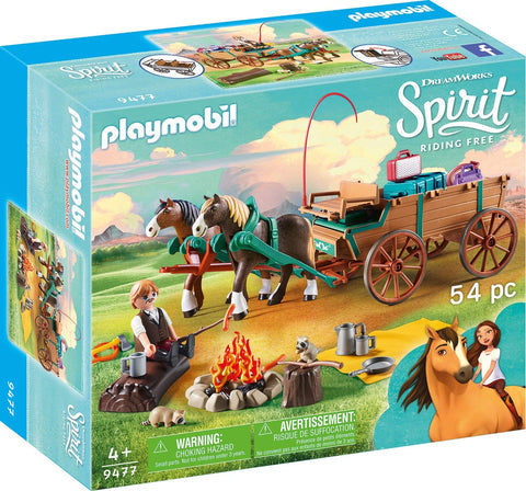 PLAYMOBIL 9477 SPIRIT RIDING FREE Lucky's Father and Carriage