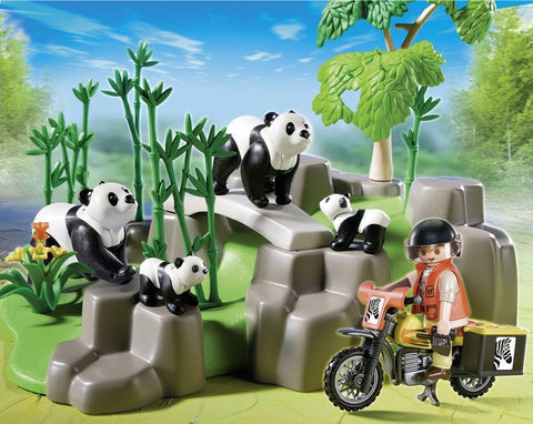 PLAYMOBIL 5414 Pandas In Bamboo Forest