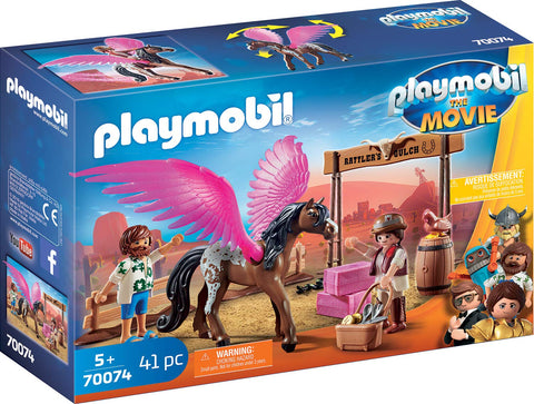 PLAYMOBIL 70074 THE MOVIE Marla & Del with Pegasus