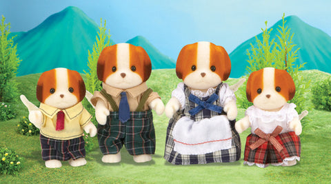 SYLVANIAN 5000 Chiffon Dog Family