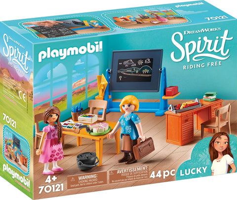 PLAYMOBIL 70121 SPIRIT RIDING FREE Classroom with Miss Flores set