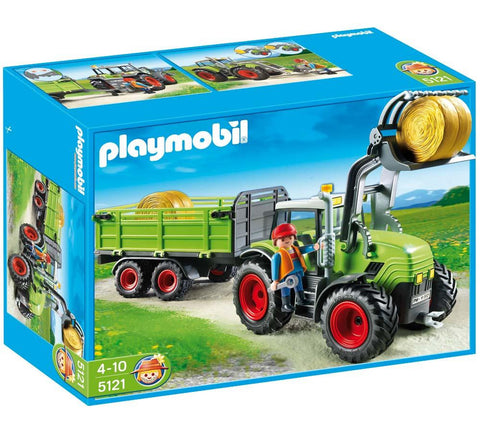 PLAYMOBIL 5121 Giant tractor with trailer