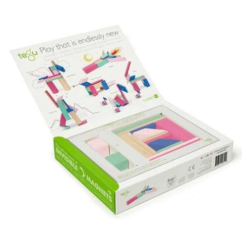 TEGU Magnetic Wooden Blocks 14pc BLOSSOM
