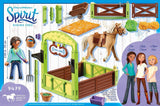 PLAYMOBIL 9479 SPIRIT RIDING FREE Horse Stable with Pru and Chica Linda