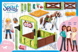 PLAYMOBIL 9480 SPIRIT RIDING FREE Horse Stable with Abigail & Boomerang