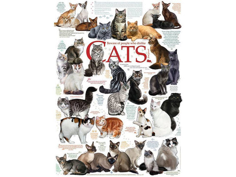 Cobble Hill CAT QUOTES 1000pc jigsaw