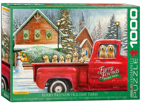 Eurographics FURRY FRIENDS HOLIDAY FARM 1000pc CHRISTMAS puzzle