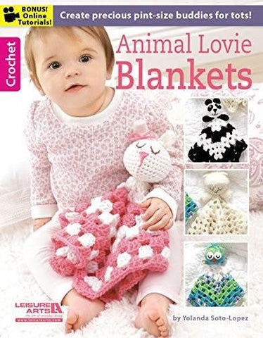ANIMAL LOVIE BLANKETS crochet book LEISURE ARTS