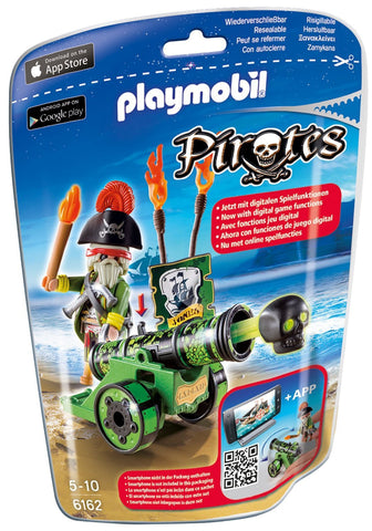 PLAYMOBIL 6162 PIRATES Green Interactive Cannon with Pirate
