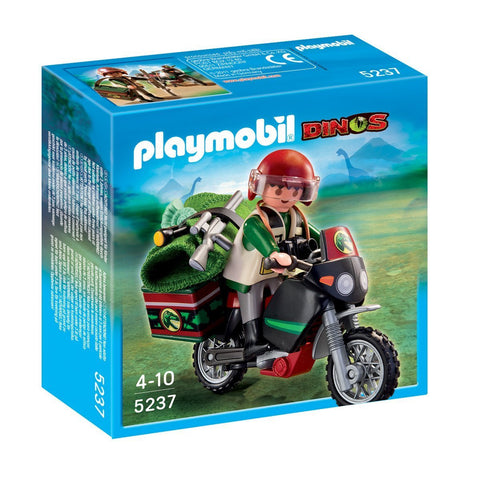 PLAYMOBIL 5237 Dinos Explorer with Motorcycle
