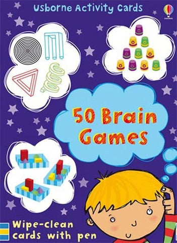 Usborne 50 BRAIN GAMES Logic Puzzle cards
