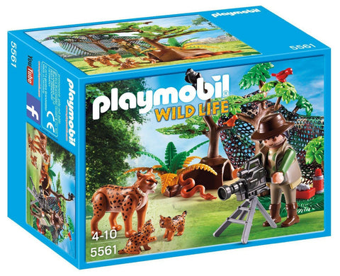 PLAYMOBIL 5561 WILDLIFE Lynx Family with Cameraman