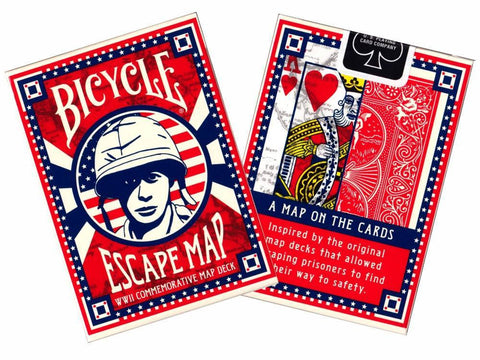 Bicycle Poker ESCAPE MAP cards