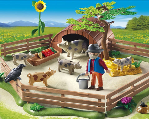 PLAYMOBIL 5122 Pigs Enclosure Pig Farmer