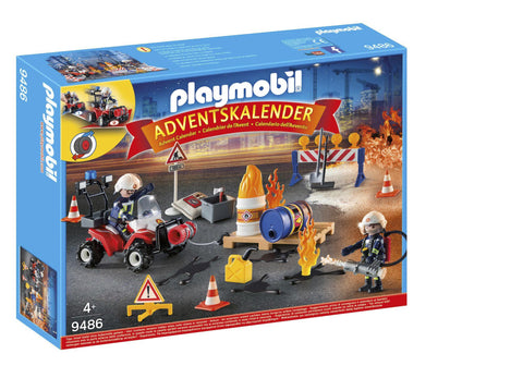 PLAYMOBIL 9486 ADVENT CALENDAR Construction Fire Rescue