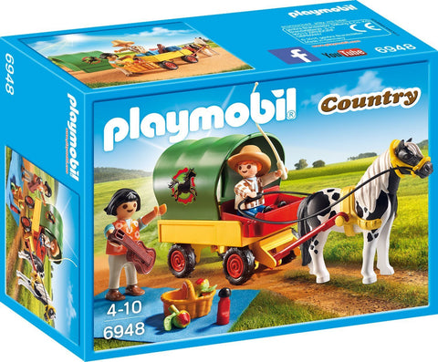 PLAYMOBIL 6948 Picnic with Pony Wagon