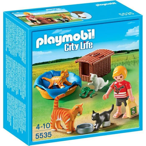 PLAYMOBIL 5535 Cat Family with Basket