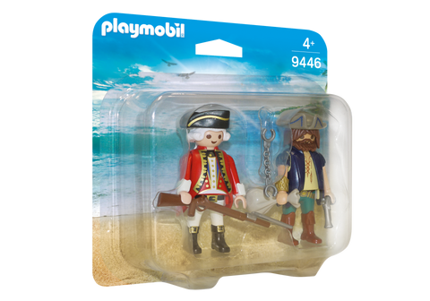 PLAYMOBIL 9446 PIRATES Pirate and Soldier DUO PACK