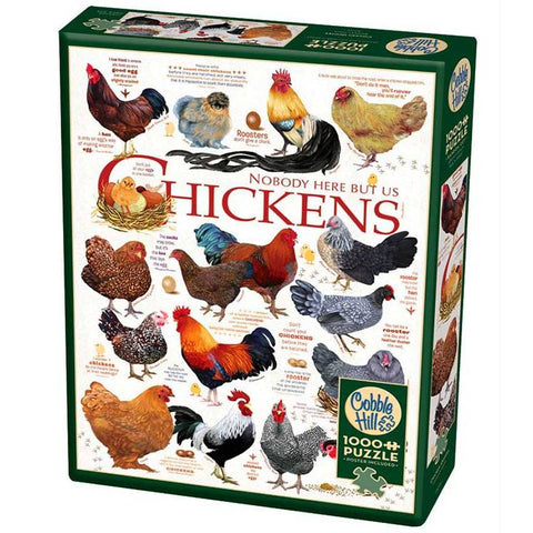 Cobble Hill CHICKEN QUOTES 1000pc jigsaw puzzle
