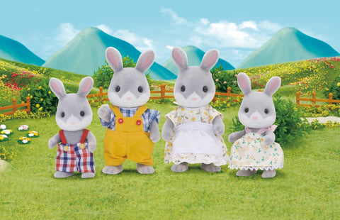 SYLVANIAN 4030 Cottontail Rabbit family set