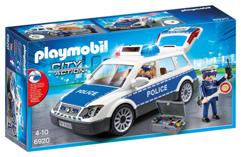 PLAYMOBIL 6920 POLICE Car with Lights & Sound