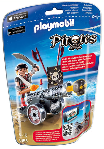 PLAYMOBIL 6165 PIRATES Black Interactive Cannon with Raider