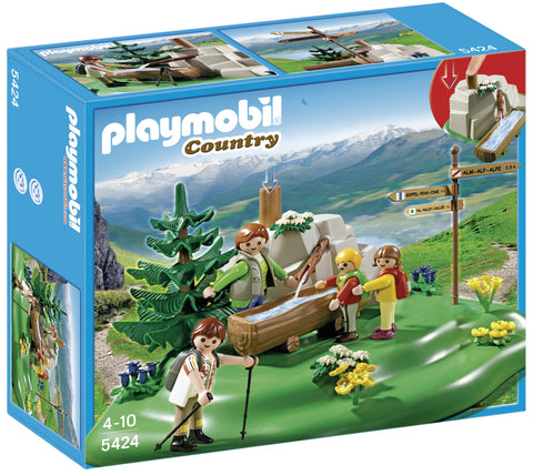 PLAYMOBIL 5424 Backpacker Family at Mountain Spring