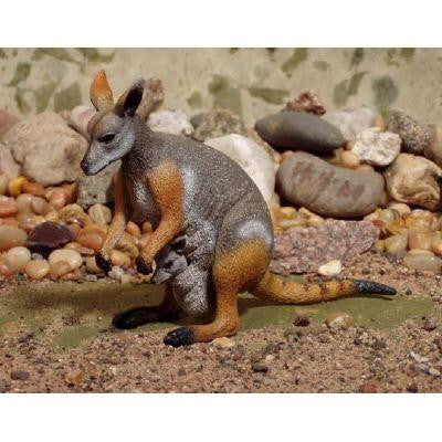 YELLOW-FOOTED ROCK WALLABY large replica toy