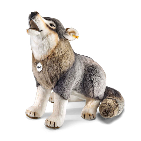 STEIFF Snorry Wolf howling 60cm plush