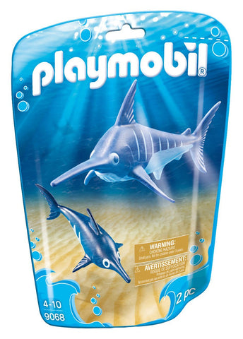 PLAYMOBIL 9068 AQUARIUM Swordfish with baby