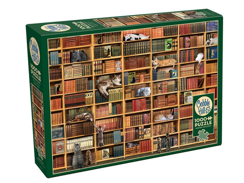 Cobble Hill THE CAT LIBRARY 1000pc jigsaw